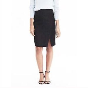 Banana Republic Wool Blend Grey Lined Slit Skirt